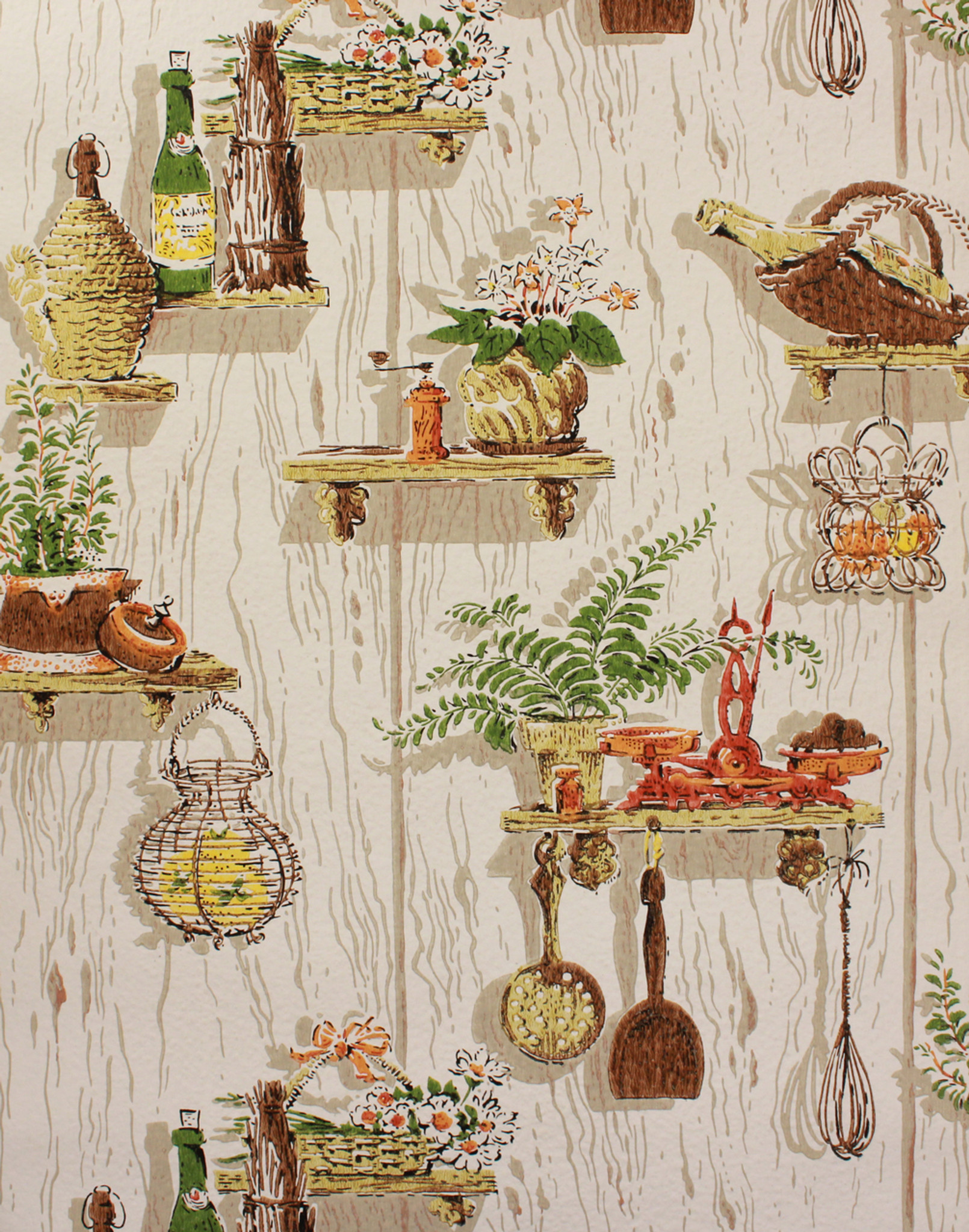 1970s Vintage Wallpaper Orange Kitchen Kitsch Rosie S Vintage