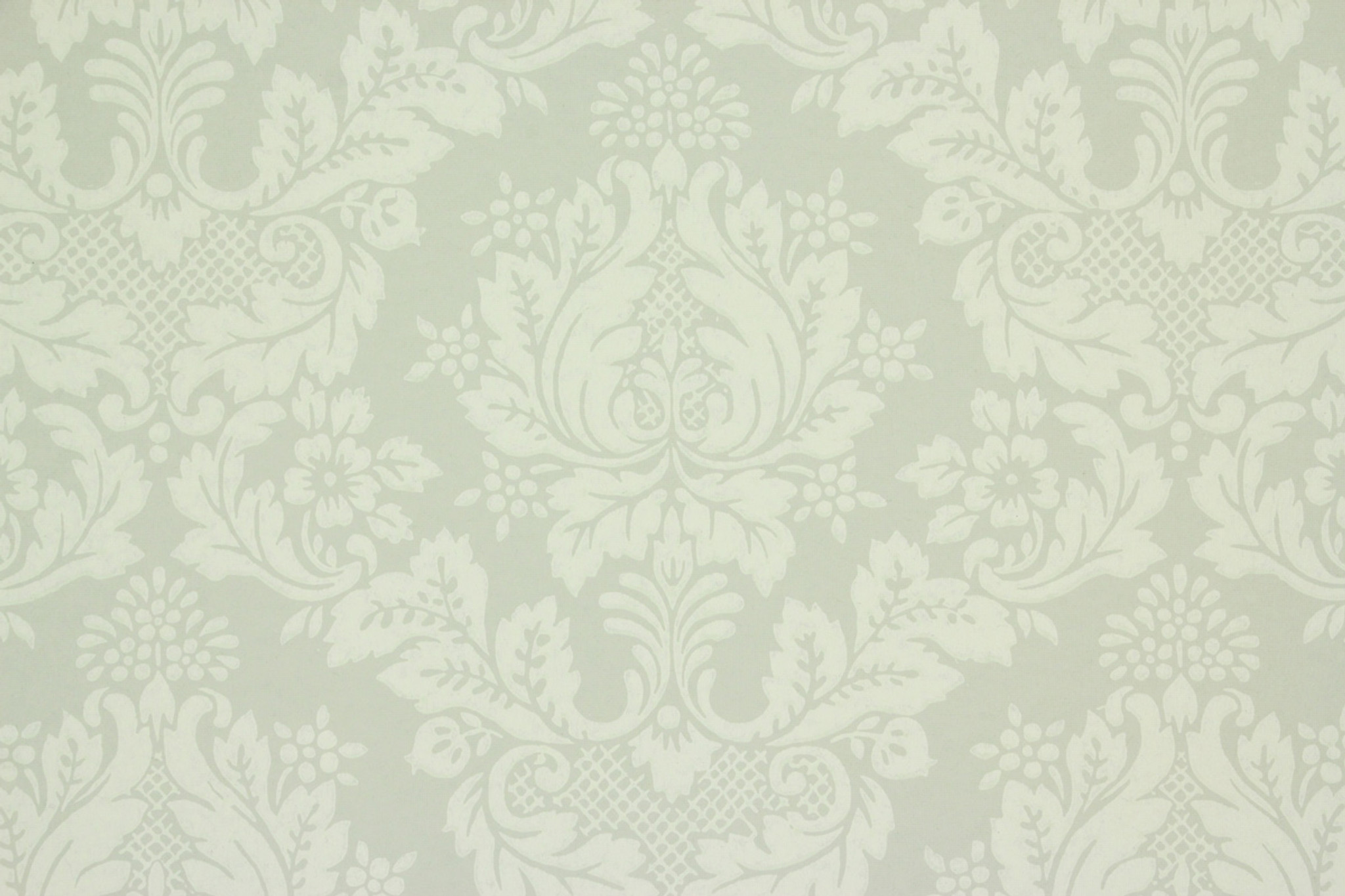1950s Vintage Wallpaper Pretty Floral Damask On Green Rosie S