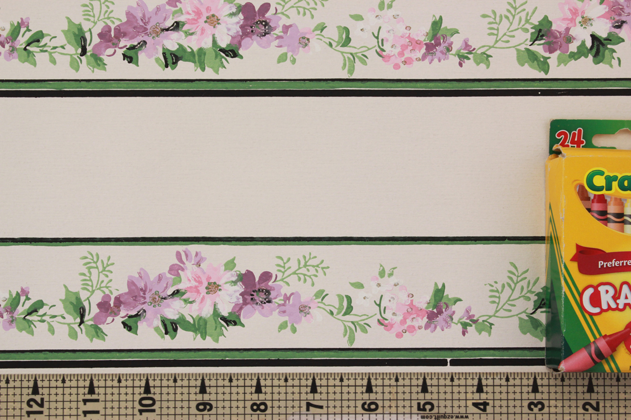 1940s Vintage Wallpaper Border Purple Flowers Rosie S Vintage