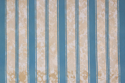 1970s Vintage Wallpaper Flock Blue Stripe