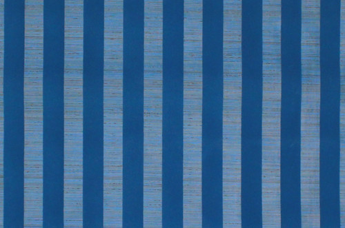 1970s Vintage Wallpaper Blue Flock Stripe