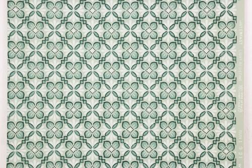 1940s Vintage Wallpaper Green on Green Geometric