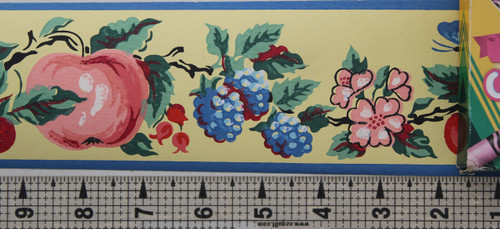Imperial Vintage Wallpaper Border Fruit Yellow