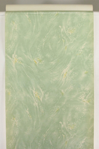 1930s Vintage Wallpaper Faux Marble Green