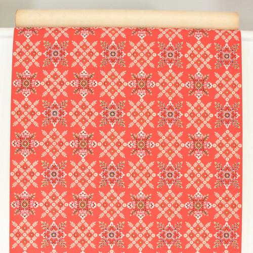 1960s Vintage Wallpaper Red Geometric