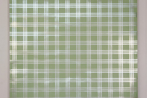 1970s Vintage Wallpaper Retro Green Plaid Foil