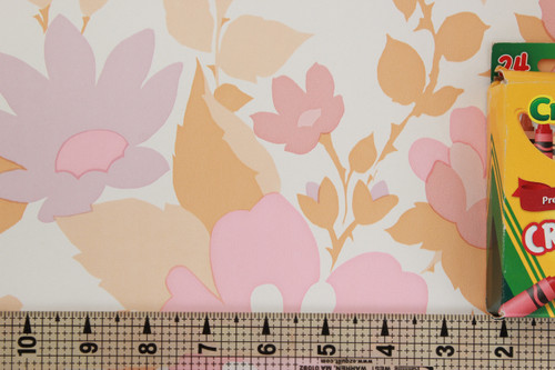 1970s Vintage Wallpaper Retro Pink Flower