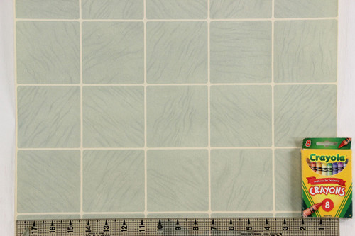 1930s Vintage Wallpaper Faux Aqua Tiles