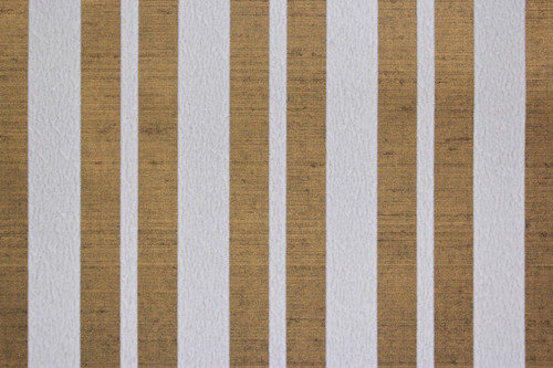 1970s Vintage Wallpaper White Flock Stripe