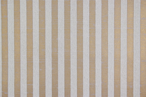 1970s Vintage Wallpaper White Flock Stripe on Gold