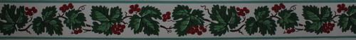 Trimz Vintage Wallpaper Border Berry Leaf