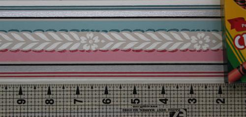 Trimz Vintage Wallpaper Border Colortone Pink
