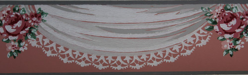 Trimz Vintage Wallpaper Border Swag Bouquet
