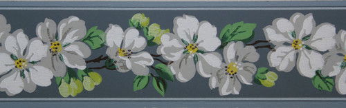Trimz Vintage Wallpaper Border Apple Blossom