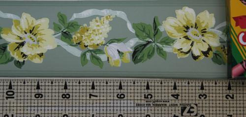 Trimz Vintage Wallpaper Border Floral Ribbon