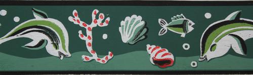 Trimz Vintage Wallpaper Border Aquarium
