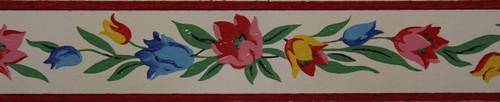 Trimz Vintage Wallpaper Border Tulip Band