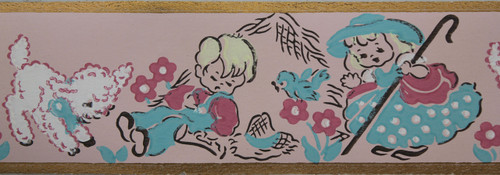 Trimz Vintage Wallpaper Border Bo Peep