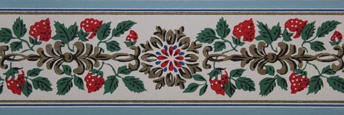 Trimz Vintage Wallpaper Border Strawberry Vine