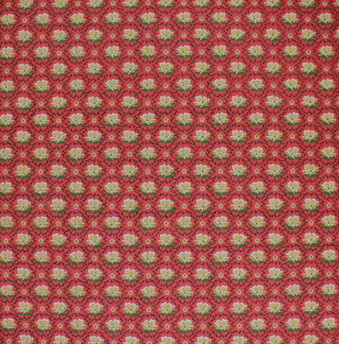 1950s Vintage Wallpaper Yellow Flowers on Red