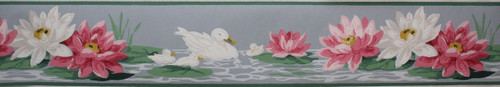 Trimz Vintage Wallpaper Border Enchanted Pond
