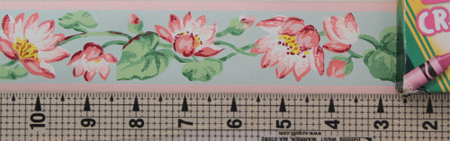 Trimz Vintage Wallpaper Border Lotus Blossoms