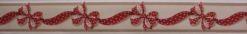 Trimz Vintage Wallpaper Border Ribbonette Red