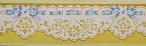 Trimz Vintage Wallpaper Border Yellow Eyelet