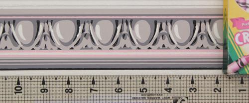 Trimz Vintage Wallpaper Border Egg and Dart Gray