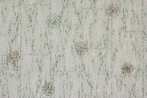 1950s Vintage Wallpaper Retro Starbursts on Green Wood Grain Plank