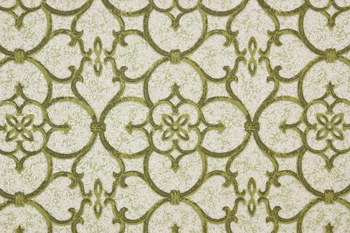 1970s Vintage Wallpaper Avocado Green Geometric