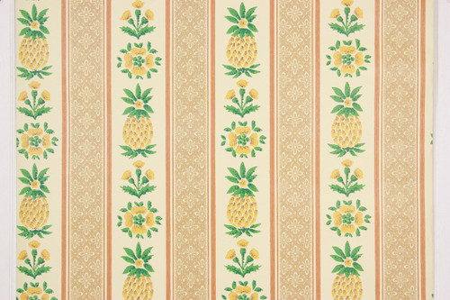 1970s Vintage Wallpaper Pineapple