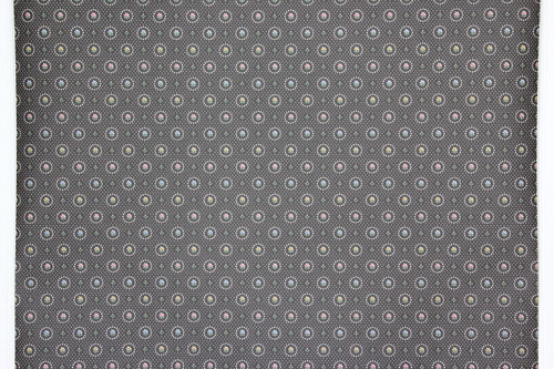 1980s Retro Vintage Wallpaper Pastel Flowers on Black