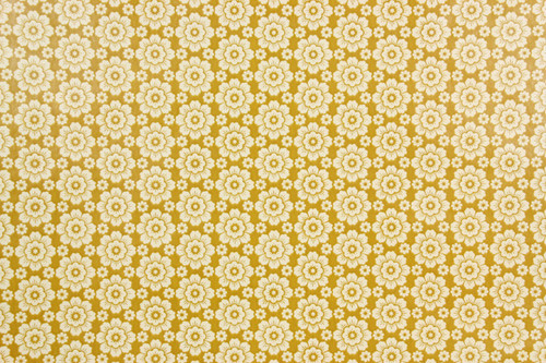 1970s Retro Vintage Wallpaper White Floral Geometric
