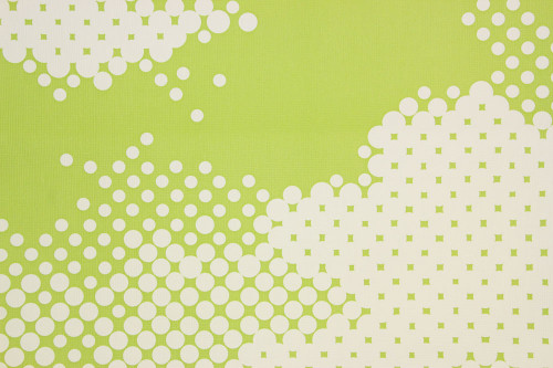 1970s Retro Vintage Wallpaper White Dots Lime Green