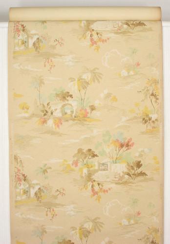 1920s Vintage Wallpaper Palm Trees