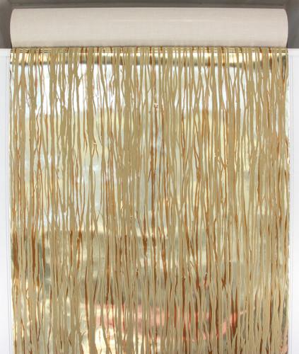 1970s Retro Vintage Wallpaper Beige Flock on Gold Brown Mylar