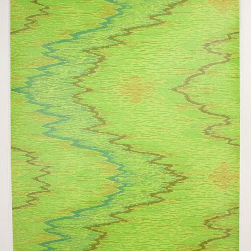 1970s Retro Vintage Wallpaper Green Blue Design