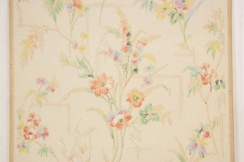 1930s Vintage Wallpaper Flower Bouquets
