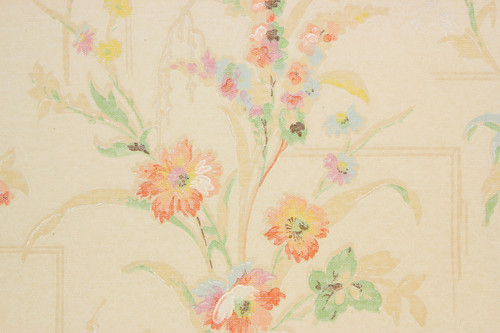 1930s Vintage Wallpaper Flower Bouquets