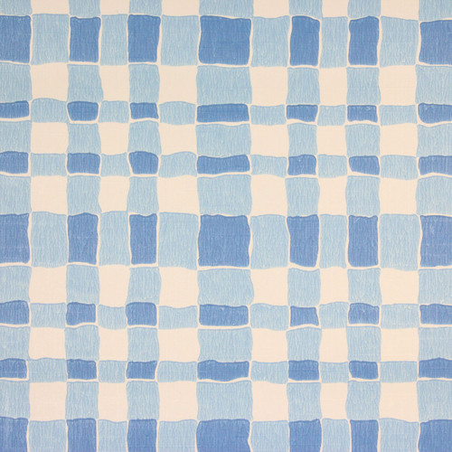 1970s Retro Vintage Wallpaper Blue Plaid