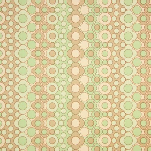 1960s Vintage Wallpaper Retro Mod Green Brown Floral