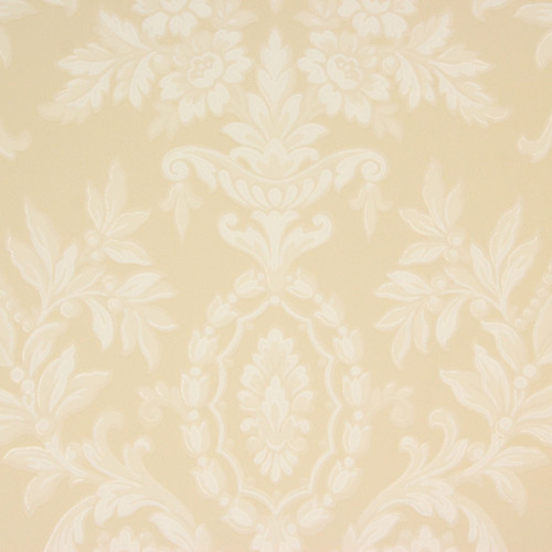 1940s Vintage Wallpaper White Flowers Scrolls