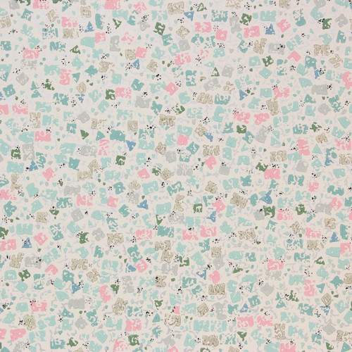 1960s Vintage Wallpaper Confetti Pink Blue