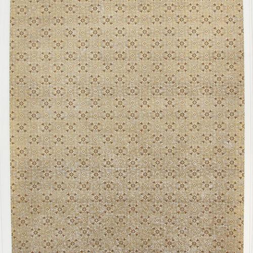 1950s Vintage Wallpaper Thomas Strahan Gold Metallic Geometric