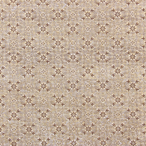 1950s Vintage Wallpaper Thomas Strahan Gold Metallic Geometric