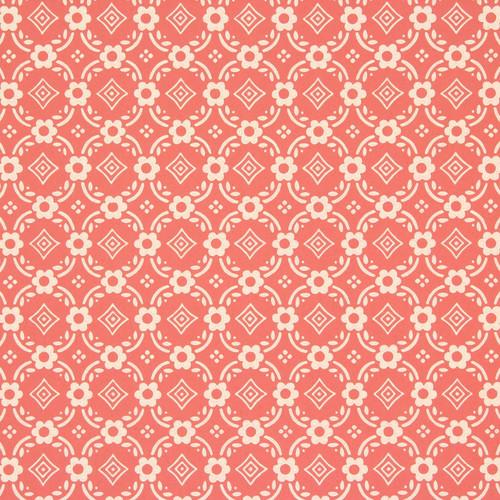 1950s Vintage Wallpaper Thomas Strahan Red Geometric