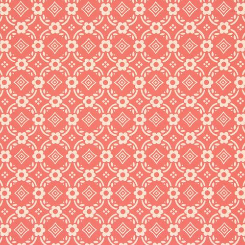1950s Vintage Wallpaper Thomas Strahan Red Geometric