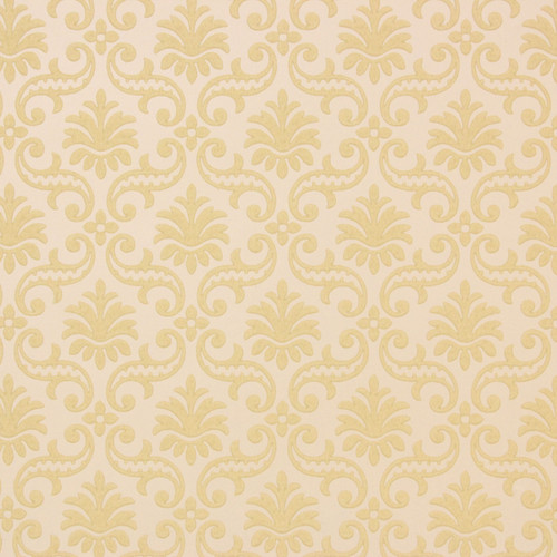 1950s Vintage Wallpaper Thomas Strahan Yellow Damask