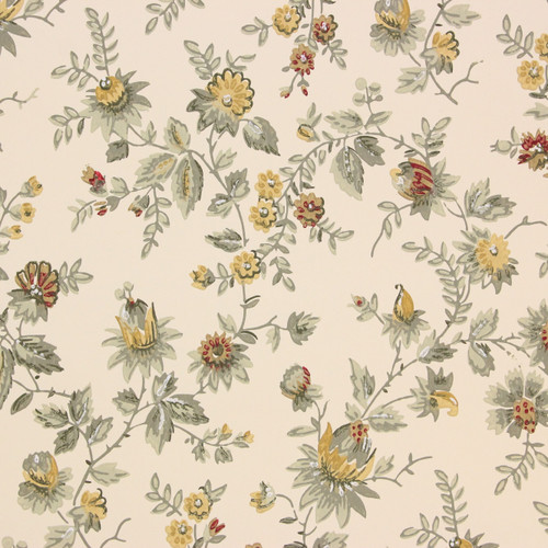 1950s Vintage Wallpaper Thomas Strahan Yellow Flowers
